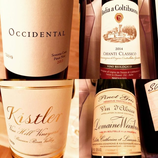 Some good wines comming our way tomorrowoccidental kistler weinbach coltibuonowine