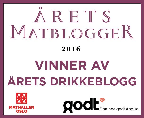Vinner av Årets Drikkeblogg 2016 – Mathallen Oslo & Godt.no