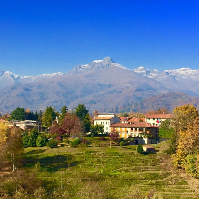 Beautiful view in biella with the Alps in the backgroundhellip